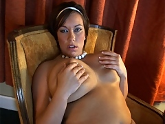 Victoria Lane rubs her tits while talking dirty
